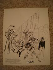 Neal Adams New Heroes Portfolio S&N #183 1979 Sal Q Productions 1st Ms Mystic