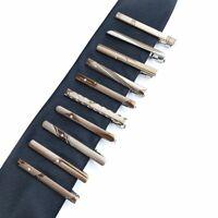Formal Men's Metal Fashion Clip Silver Color Simple Necktie Tie Pin Bar Clasp