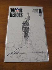 WAR HEROES #1 (B&W Sketch Cvr D) **SIGNED MARC SILVESTRI!** COA