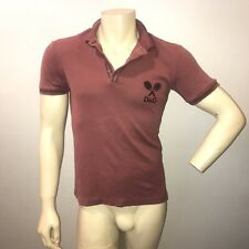 Dolce & Gabbana Tennis Racks Cotton Short Sleeve Polo Shirt Mens Size Small