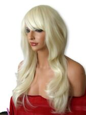 Long Wig Light Blonde Womens Real Natural Fashion Costume Wavy Curly Lady Wig D5