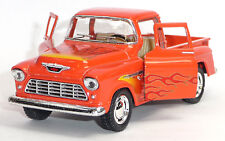 1955 Chevrolet 3100 Pick-Up Sammlermodell 1:32 Stepside orange KINSMART Neuware