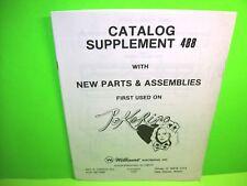 Williams Pokerino Original 1978 Pinball Machine Catalog Supplement 488 Manual