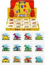 12x Mini Dinosaur Temporary Tattoos Boys Girls Party Bag & Stocking Fillers