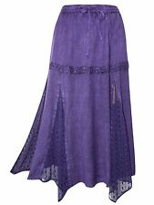 Womens plus size 18 20   skirt full length romantic / medieval  lace PURPLE