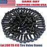 LOT 200 TR 413 Snap-In Tire Valve Stems Short Black Rubber Most Popular Valve
