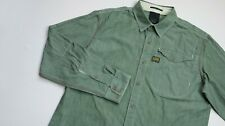 G-Star Raw Chambray Casual shirt men Long Sleeve top size 2XL XXL Slim green