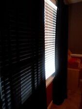 "Set of 2 40"" x 84"" Sheer Voile Pocket Black Curtain Panels"