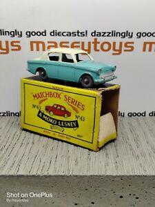 MATCHBOX LESNEY MOKO No.43a Hillman Minx RARE ERROR PIECE Original Vintage