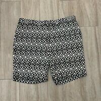 Mario Serrani Women's Size 14 Comfort Stretch Bermuda Shorts  Black/White