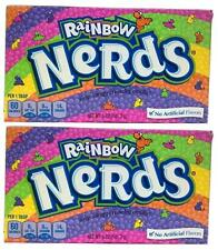 2x Formally Wonka Rainbow Nerds Crunchy Candy Large Box 141.7g American Sweets