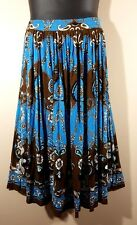 Size XXL 2X Summer SKIRT Rayon Gauze Peasant Boho Beach Cruise Stretch Waist