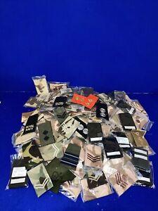 DPM MTP Desert Rank Slide Job Lot Salvage Uniform Cloth Badge PCS Soldier 95
