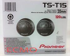 """PIONEER TS-T15 3/4"""" CAR AUDIO SOFT DOME TWEETERS 120W .75"""" TWEETER PAIR NEW"""