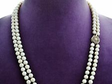 Sumptuous Estate 2 Strand 6.25mm Luminous Cultured A AKOYA PEARL Necklace 21&22""