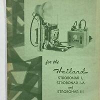 Strobonar I I-A III Heiland Flash Camera Owner Manual Instructions Light Vintage
