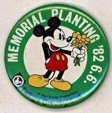 """1982 Memorial Planting Tokyo Disneyland 2 1/8"""" Pinback Button"""