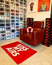 XL Kiss My Airs Red Sneaker Inspired Floor Mat Sneaker Head Rug House Decoration