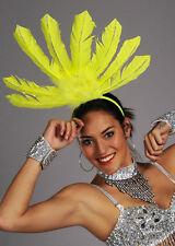 Rio Carnival Showgirl Yellow Feather Headpiece