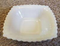 Vintage Hobnail Candy/trinket white milk glass square bowl