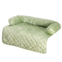 Pet Couch Chair Protector with Bolster Dog Bed 35 x 35 Inches Shamrock