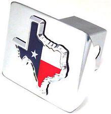 Shape of Texas Flag Chrome Hitch Cover - Metal!