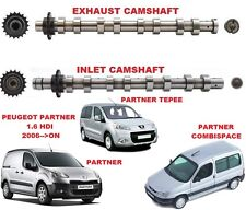 FOR PEUGEOT PARTNER 1.6 HDI 2006-->ON NEW INLET & EXHAUST ENGINE CAMSHAFT