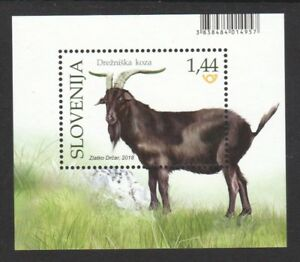 SLOVENIA 2018 FAUNA GOAT SOUVENIR SHEET OF 1 STAMP IN MINT MNH UNUSED CONDITION