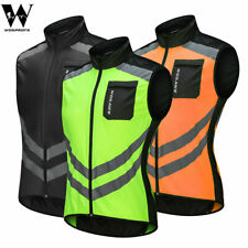 Hi-Viz Cycling Vest MTB Bike Sleeveless Jacket Windproof Tops Reflective Gilet