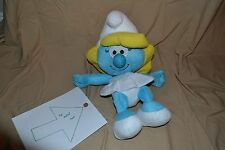 "20"" Smurfette Smurf Plush Doll Stuffed Animal Toys Old Version Vintage Huge BIG"
