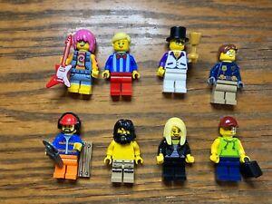 Lego City Minifigure Bundle #4  8 Figures Free p&p Used
