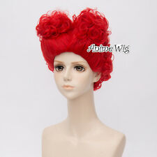 30cm For The Queen of Hearts Red Cosplay Hair Wig + Buns
