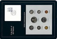 Coin Sets of All Nations Switzerland 1981-1984 UNC 5 Francs 1983 2 Francs 1981