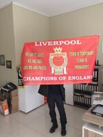 LIVERPOOL WINNERS  FLAG 2020 PREMIER LEAGUE CHAMPIONS  3ft x 2 ft