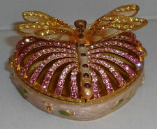 Dragonfly Enamelled and Jewelled Trinket Box