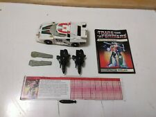 Transformers G1 Wheeljack Lot 3  w Two Fins & Two Spoilers w Instructions & More