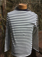Guildo Striped Breton Shirt (Cream & navy) by Saint James – 100% Cotton