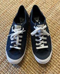 Le Coq Sportif Mens Shoes Canvas Navy Blue Size US10.5 #1610706 BNWOT Brand New