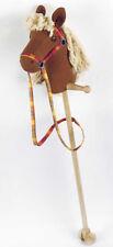 Steckenpferd JUMPER Laufpferd stabiles Holz Stoffbezug Stecken drinnen & draußen