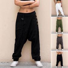 Pantaloni pluderhose per Costume Pirata Pantaloni Pump Pantaloni Harem cavallo basso pantaloni 3//4 BIANCO 38-48