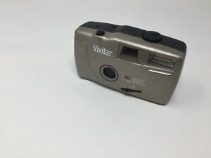 Vivitar IC1200 35mm Focus Free Camera, Silver,  Built-In Flash New battery Film