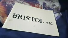 Bristol 410 Sales Brochure - ENGLISH LANG