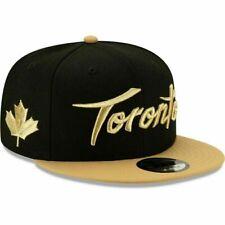 TORONTO RAPTORS NBA NEW ERA 9FIFTY BLACK/GOLD CITY EDITION SNAPBACK OSFM HAT NWT