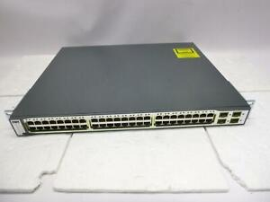 Cisco Catalyst 3750 Series POE 48x ports WS-C3750-48PS-S -QTY#