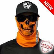 SA COMPANY Reflective Electric Orange Skull Face Shield Schal Bandana Halstuch