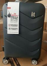 IT Luggage Chevron 8 Wheel Expander Small Cabin Hard Suitcase Dark Shadow 53.4cm