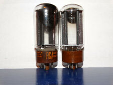 2 x 5R4gyb RCA Tubes*Black Plates*Strong Matched Pair*(4 Pair Available)