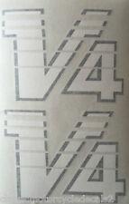 "YAMAHA RD500LC RZV500 ""V-4"" FAIRING DECALS X 2 RED/BLACK MODEL"