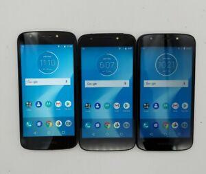 Lot of 3 Motorola Moto E5 Cruise XT1921-2 16GB Navy (Cricket) *Check IMEI*