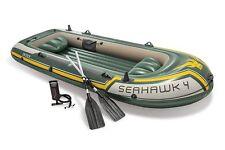 Intex Seahawk 4 Barco Juego - CUATRO Hombre Hinchable Bote con remos y bomba